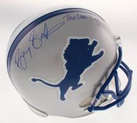 "Barry Sanders Signed Detroit Lions Full-Size Throwback Helmet Inscribed ""The Lion King"" (Schwartz COA)"