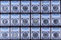 Lot of (18) Kennedy Silver Half-Dollars With (10) 1968-S & (8) 1970-S (PCGS PR 65, 66 & 67)