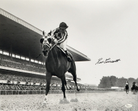 Ron Turcotte Signed Secretariat 16x20 Photo (JSA COA)