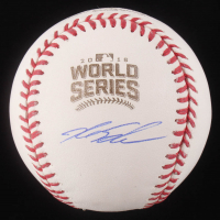 Kyle Schwarber Signed 2016 World Series Logo Baseball (Schwartz COA)