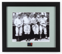 Babe Ruth, Lou Gehrig, Chuck Klein & Jimmy Foxx 13x15 Custom Framed Photo Display with MLB 125th Anniversary Pin