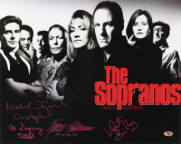 """""""The Sopranos"""" 16x20 Photo Cast-Signed by (4) With Michael Imperioli, Vincent Pastore, Al Sapienza & Federico Castelluccio with Multiple Inscriptions (MAB Hologram) at PristineAuction.com"""