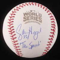 "Jason Heyward Signed 2016 World Series Logo Baseball Inscribed ""The Speech"" (Schwartz COA)"
