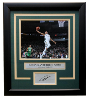Giannis Antetokounmpo Bucks 11x14 Custom Framed Photo Display at PristineAuction.com