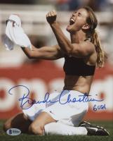 "Brandi Chastain Signed Team USA 8x10 Photo Inscribed ""USA"" (Beckett COA)"