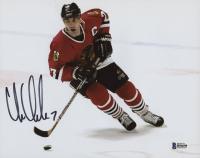 Chris Chelios Signed Chicago Blackhawks 8x10 Photo (Beckett COA)