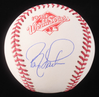 Barry Larkin Signed 1990 World Series Logo Baseball (Schwartz COA)