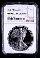 1993-P American Silver Eagle $1 One-Dollar Coin (NGC PF69 Ultra Cameo) at PristineAuction.com