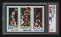 1980-81 Topps #6 34 Larry Bird RC / 174 Julius Erving TL / 139 Magic Johnson RC (PSA 7) at PristineAuction.com