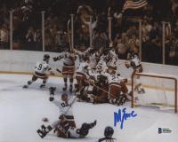 "Mike Eruzione Signed Team USA ""Miracle on Ice"" 8x10 Photo (Beckett COA)"
