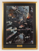 "1977 Original 20th Century Fox Promotional ""Star Wars: Episode IV -  A New Hope"" 27x36 Custom Framed Movie Poster"