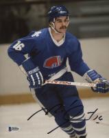 Michel Goulet Signed Quebec Nordiques 8x10 Photo (Beckett COA)