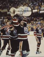 Bill Ranford Signed Edmonton Oilers Stanley Cup Champion 8x10 Photo (Beckett COA)