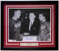 Gordie Howe & Ted Lindsay Signed Detroit Red Wings 22x27 Custom Framed Photo Display (PSA LOA & JSA Hologram)