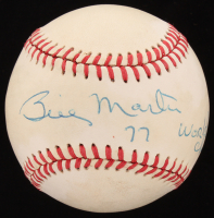 "Billy Martin Signed OAL Baseball Inscribed ""77 World Champs"" (Beckett LOA) at PristineAuction.com"