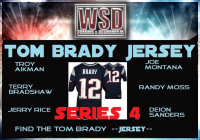 WSD Football Jersey Mystery Box - Series 4 (Find the Tom Brady Jersey!) at PristineAuction.com