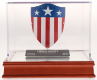 Captain America: The First Avenger High Quality Metal Movie Prop Replica Shield with Wood Base Display Case