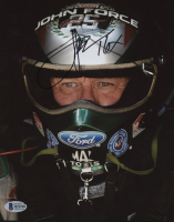 """John Force Signed 8x10 Photo Inscribed """"16X"""" (Beckett COA) at PristineAuction.com"""