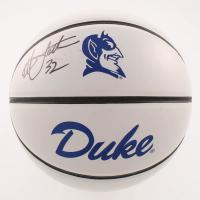 Christian Laettner Signed Duke Blue Devils Logo Basketball (JSA COA)