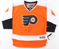 """Bernie Parent Signed Philadelphia Flyers Jersey Inscribed """"HOF 84"""" (Schwartz COA)"""