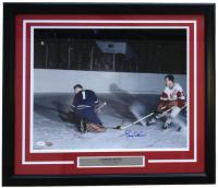 Gordie Howe Signed Detroit Red Wings 22x27 Custom Framed Photo Display (PSA LOA)