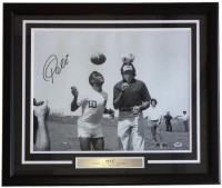 Pele Signed Team Brazil 22x27 Custom Framed Photo Display (PSA COA)