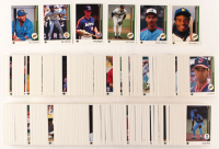 1989 Upper Deck Complete Low Number Set of (700) Baseball Cards with #1 Ken Griffey Jr. RC, #13 Gary Sheffield RC, #17 John Smoltz RC, #273 Craig Biggio RC, #25 Randy Johnson RC, #440 Barry Bonds at PristineAuction.com