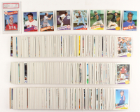 Complete Set of (792) 1985 Topps Baseball Cards with #536 Kirby Puckett RC, #181 Roger Clemens RC, #760 Nolan Ryan, #401 Mark McGwire Olympics RC (PSA 7) at PristineAuction.com