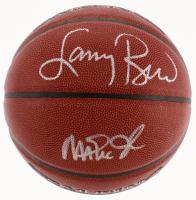 Larry Bird & Magic Johnson Signed NBA Basketball (Schwartz COA & Bird Hologram) at PristineAuction.com