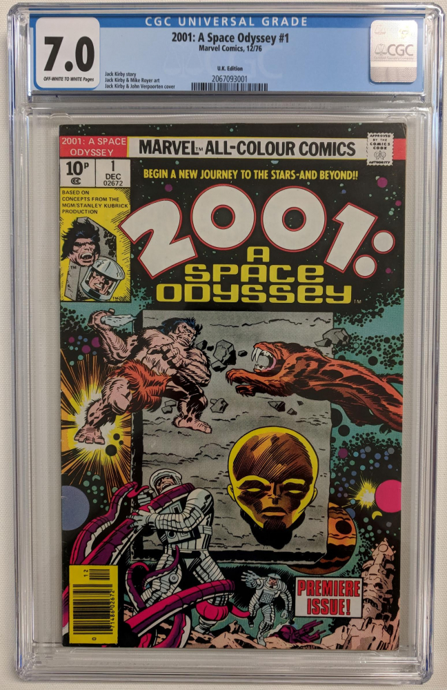 """1976 """"2001: A Space Odyssey"""" Issue #1 Marvel Comic Book (CGC 7.0) at PristineAuction.com"""