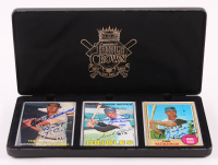 """Lot of (3) Ted Williams, Frank Robinson & Carl Yastrzemski Signed LE Porcelain Baseball Cards with Display Case Inscribed """"42 & 47 T.C.,"""" """"Triple Crown 1966"""" & """"Triple Crown 1967"""" (Triple Crown COA & Williams Hologram) at PristineAuction.com"""