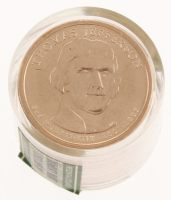 Ballistic Roll of (12) Uncirculated 2007-P Thomas Jefferson Presidential Dollars at PristineAuction.com