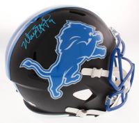 Matthew Stafford Signed Detroit Lions Full-Size Matte Black Speed Helmet (Fanatics Hologram)