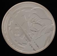 "2018 Niue 1 oz. .999 Fine Silver ""Elizabeth II / Darth Vadar"" $2 Coin at PristineAuction.com"