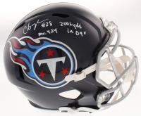 "Chris Johnson Signed Titans Full-Size Speed Helmet Inscribed ""Mr. 4.24"" & ""2006 Yds in 09"" (Beckett COA) at PristineAuction.com"