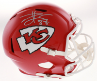 Travis Kelce Signed Chiefs Full-Size Speed Helmet (Beckett COA) at PristineAuction.com