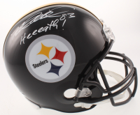 """Heath Miller Signed Pittsburgh Steelers Full-Size Helmet Inscribed """"Heeeath!"""" (TSE Hologram) at PristineAuction.com"""