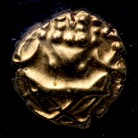 1638-62 India - Mysore Gold Fanam .39g Ancient Medieval Gold Coin (PCGS MS62) at PristineAuction.com