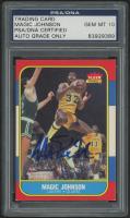 Magic Johnson Signed 1986-87 Fleer #53 (PSA Encapsulated) at PristineAuction.com
