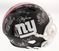 1986 & 1990 New York Giants Signed Full-Size Matte Black Speed Helmet Signed by (28) with Lawrence Taylor, Carl Banks, Phil Simms, Rodney Hampton (Schwartz COA) at PristineAuction.com