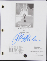 "Ralph Macchio Signed ""The Karate Kid"" Movie Script (Legends COA) at PristineAuction.com"