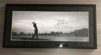 Tiger Woods Signed 12x30 Custom Framed Photo (UDA COA)