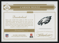 2016 Panini Flawless Rookie Progression Signatures #24 Carson Wentz #07/20 at PristineAuction.com