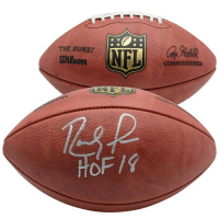 "Randy Moss Signed ""The Duke"" Official NFL Game Ball Inscribed ""HOF 18"" (Fanatics Hologram)"