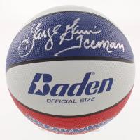 "George Gervin Signed Basketball Inscribed ""Iceman"" (Schwartz COA)"