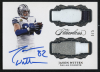 2017 Panini Flawless Dual Patch Autographs Silver #5 Jason Witten #5/5 at PristineAuction.com