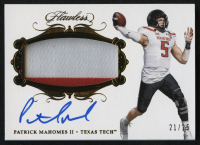2018 Panini Flawless Collegiate Patch Autographs #49 Patrick Mahomes II #21/25 at PristineAuction.com