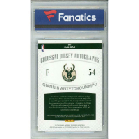 2017-18 Panini National Treasures Colossal Jersey Autographs #11 Giannis Antetokounmpo (Fanatics Encapsulated) at PristineAuction.com