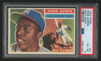 1956 Topps #31A Hank Aaron (PSA 6) at PristineAuction.com