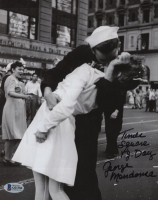 "George Mendonsa Signed ""VJ Day"" 8x10 Photo Inscribed ""Times Square V. J. Day"" (Beckett COA) at PristineAuction.com"
